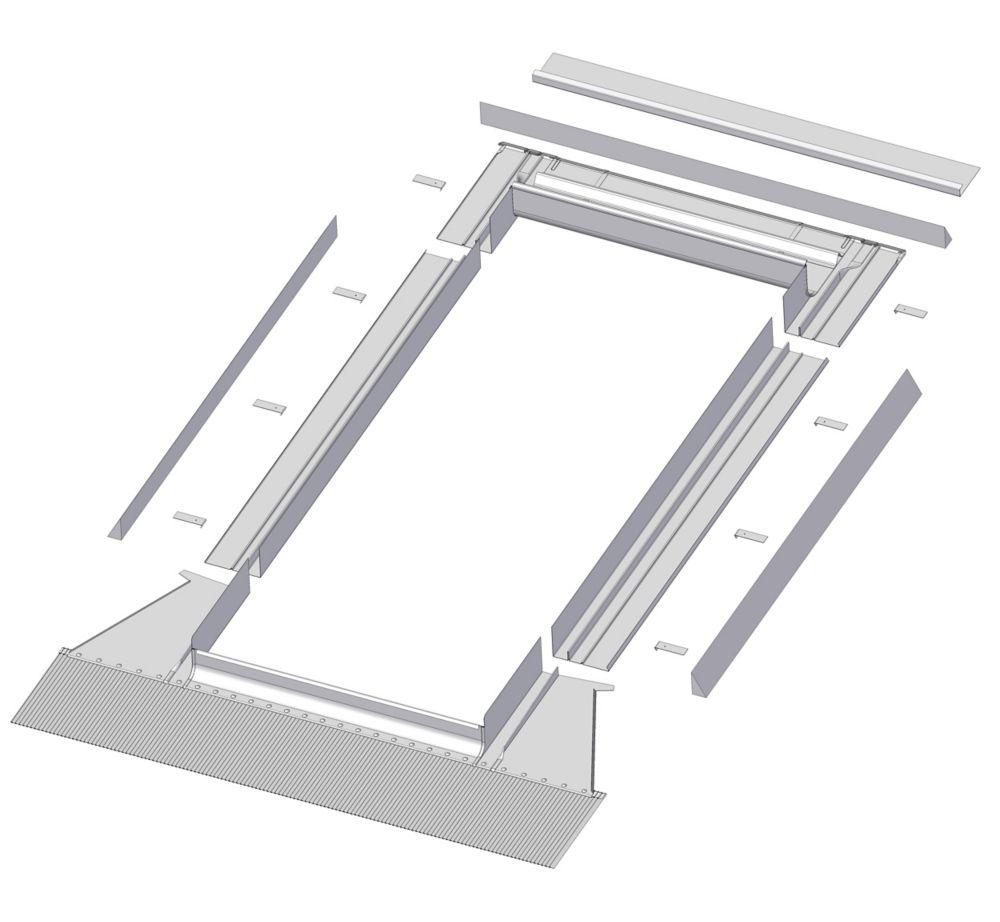 Solin à gradins de prestige EH/A-A 24x55 (pour puits de lumière FV et FVE seulement)