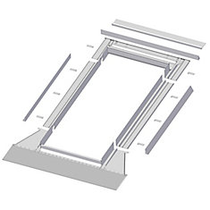 48-inch x 27-inch Fakro EH-A Skylight High Profile Step Flashing - ENERGY STAR®