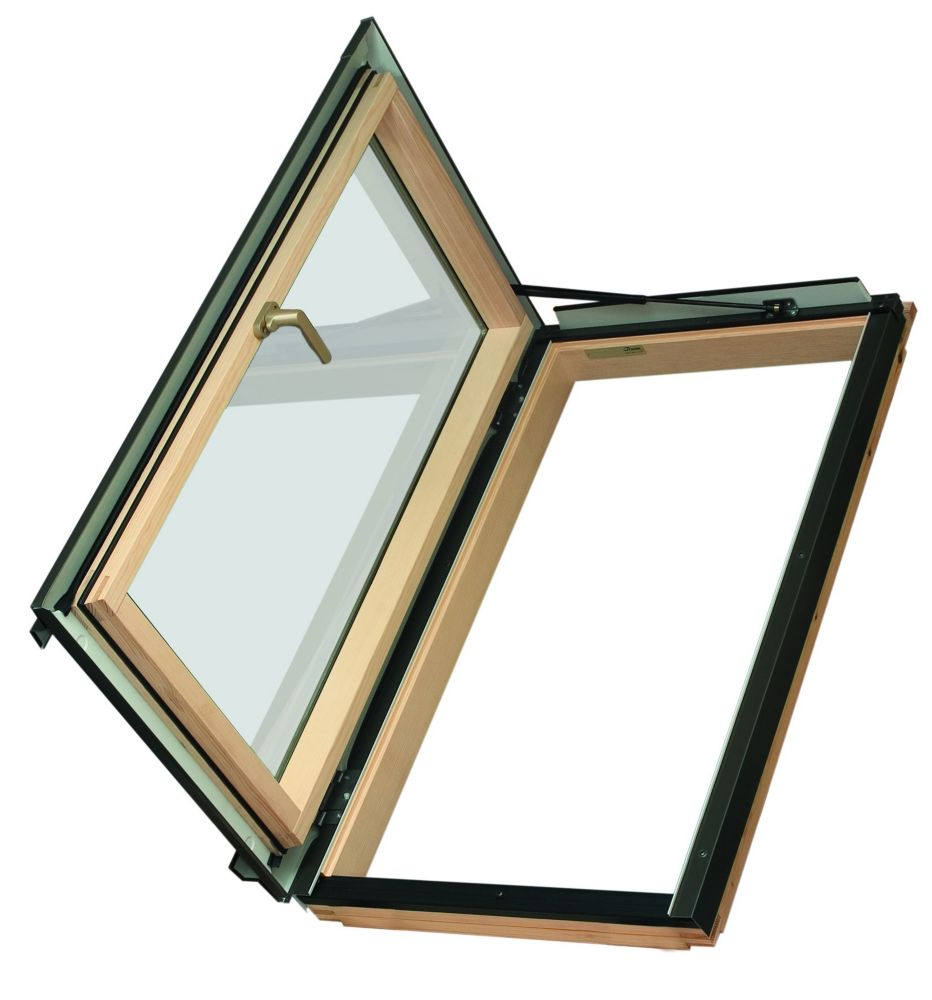 Fakro 24-inch x 38-inch Fakro FWU-L Left Opening Roof Access Window - ENERGY STAR®