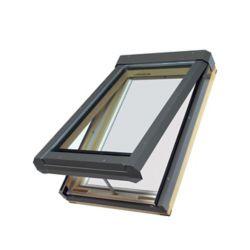 Fakro Puits de lumière à ouverture électrique FVE 24/70 Z3 (verre trempé, argon, à faible émissivité) - ENERGY STAR®