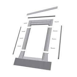 Fakro 24-inch x 46-inch  EHW Roof Access Window High Profile Flashing - ENERGY STAR®