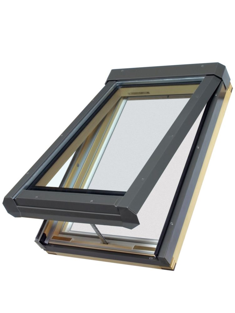 ELECTRIC VENTING Skylight FVE 32/46 (R.O. 30.5 In.x45.5 In.) (Tempered Glass, Argon, Low-E) 68913 Canada Discount