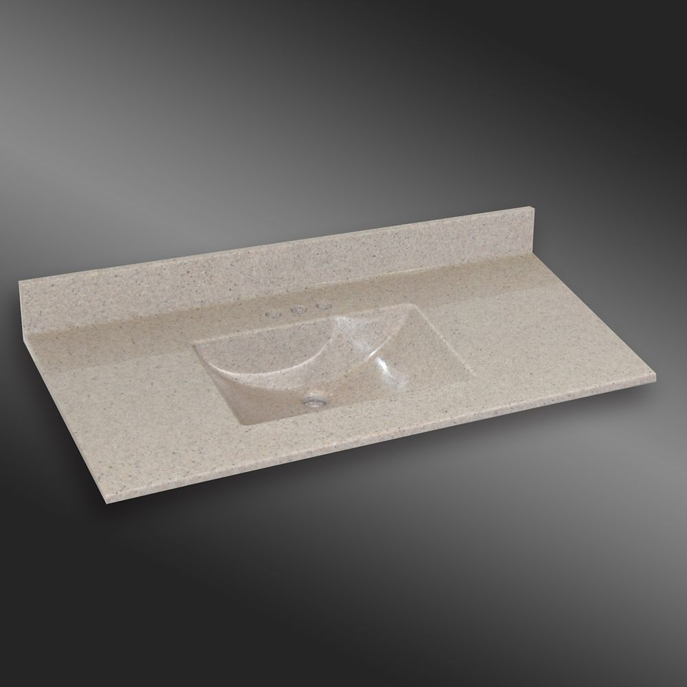 Wave Center Basin, PG141 Irish Cream- 49 x 22 inches 49C WAVE PG141 Canada Discount