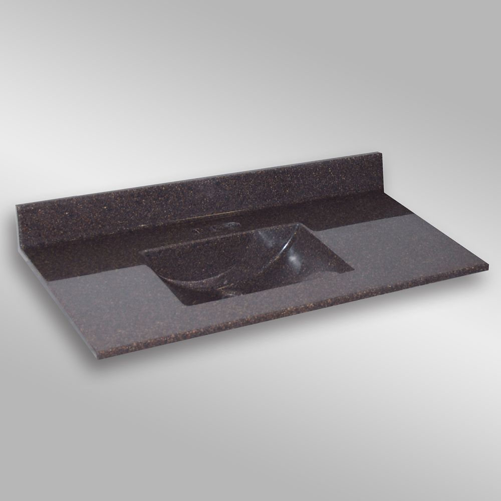 Wave Center Basin, PG133 Espresso- 49 x 22 inches 49C WAVE PG133 in Canada