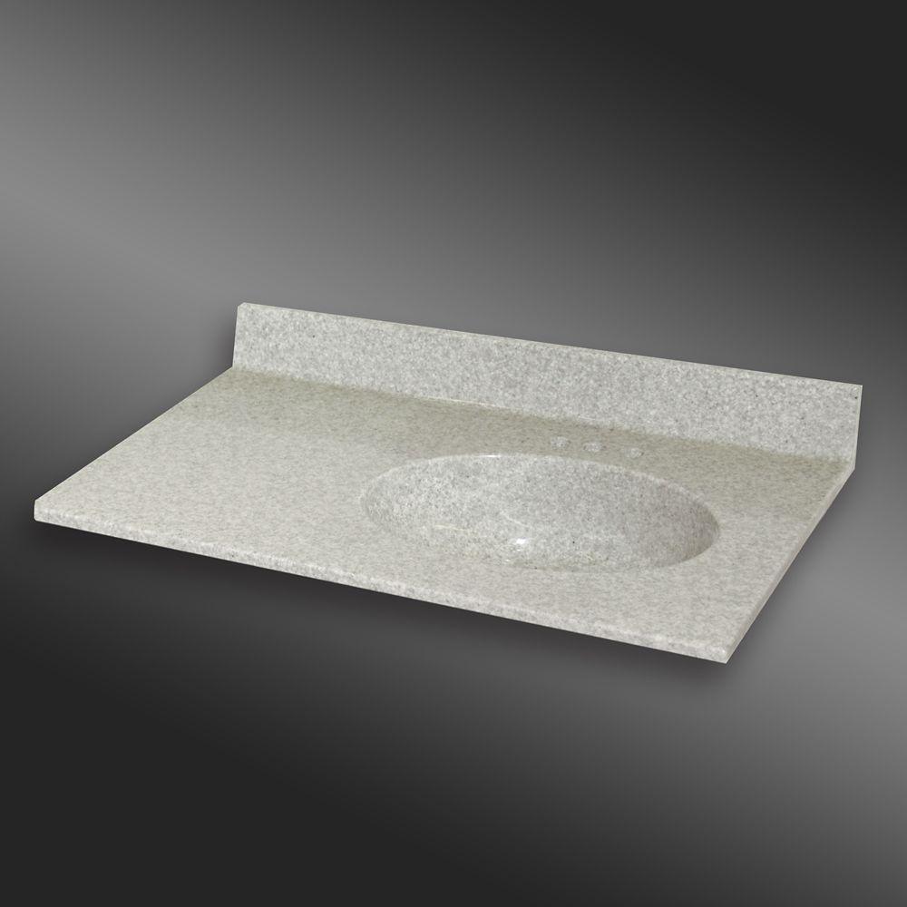Malibu lavabo a la main droite, PG907- Brume de Willow- 37 x 22 pouces
