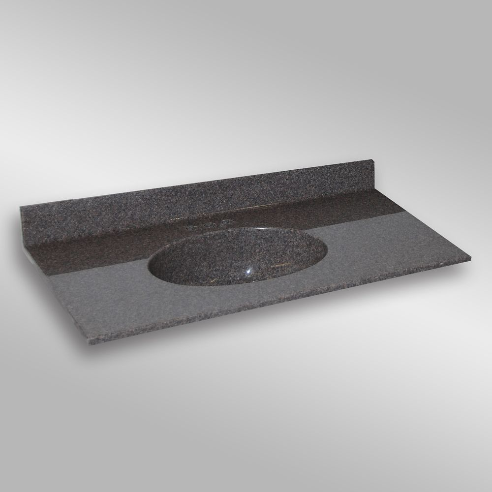 Malibu 49-Inch W x 22-Inch D Granite Centre Basin Vanity Top in Mystique