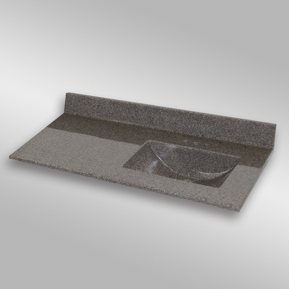 Wave 49-Inch W x 22-Inch D Granite Right-Hand Basin Vanity Top in Carioca Stone