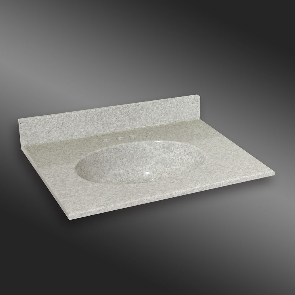 Malibu lavabo centré, PG907- Brume de Willow- 31 x 22 pouces