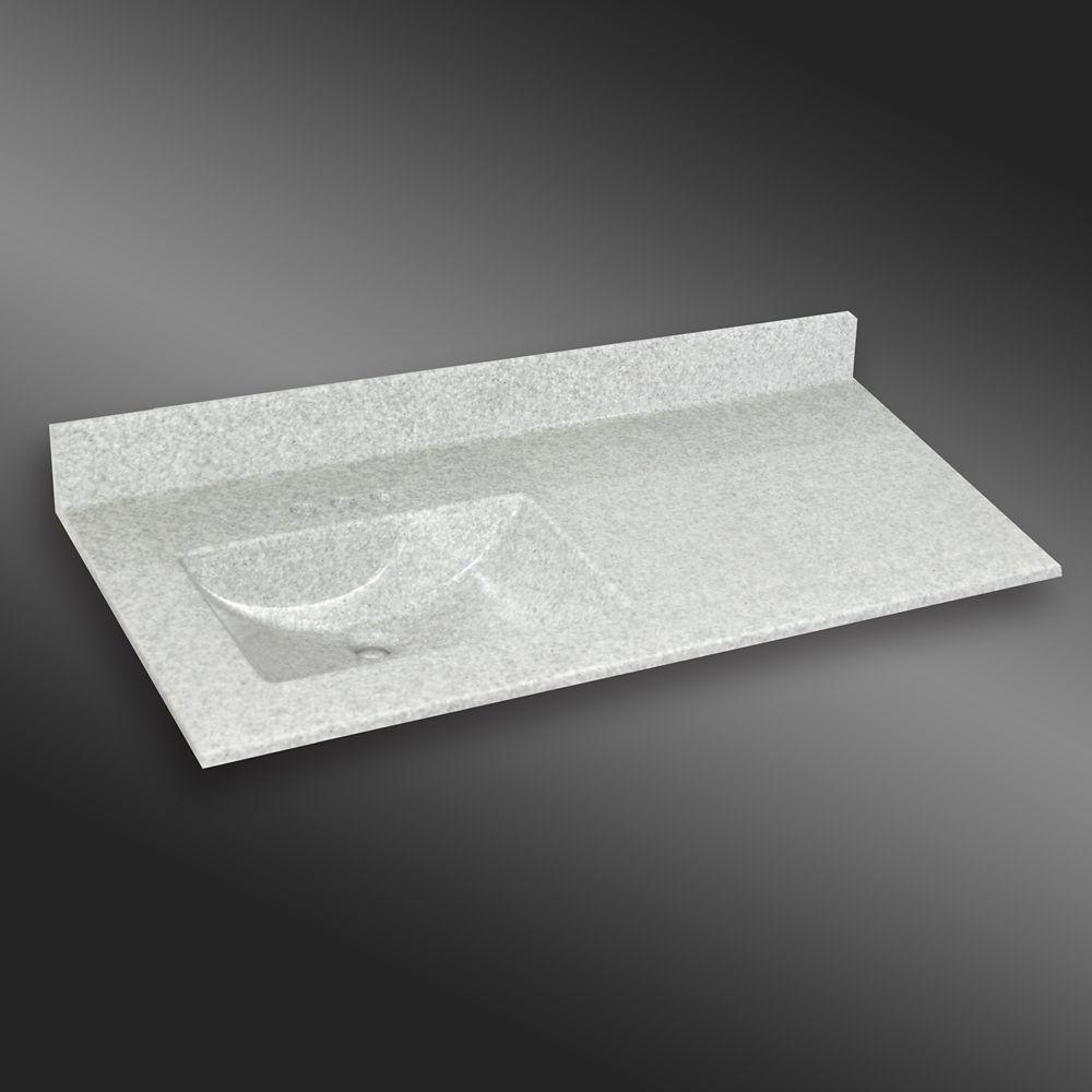 Wave 49-Inch W x 22-Inch D Granite Left-Hand Basin Vanity Top in Mystique