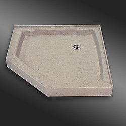 The Marble Factory Neo seuil en angle, PG141- Crème Irlandaise- 36 x 36 pouces