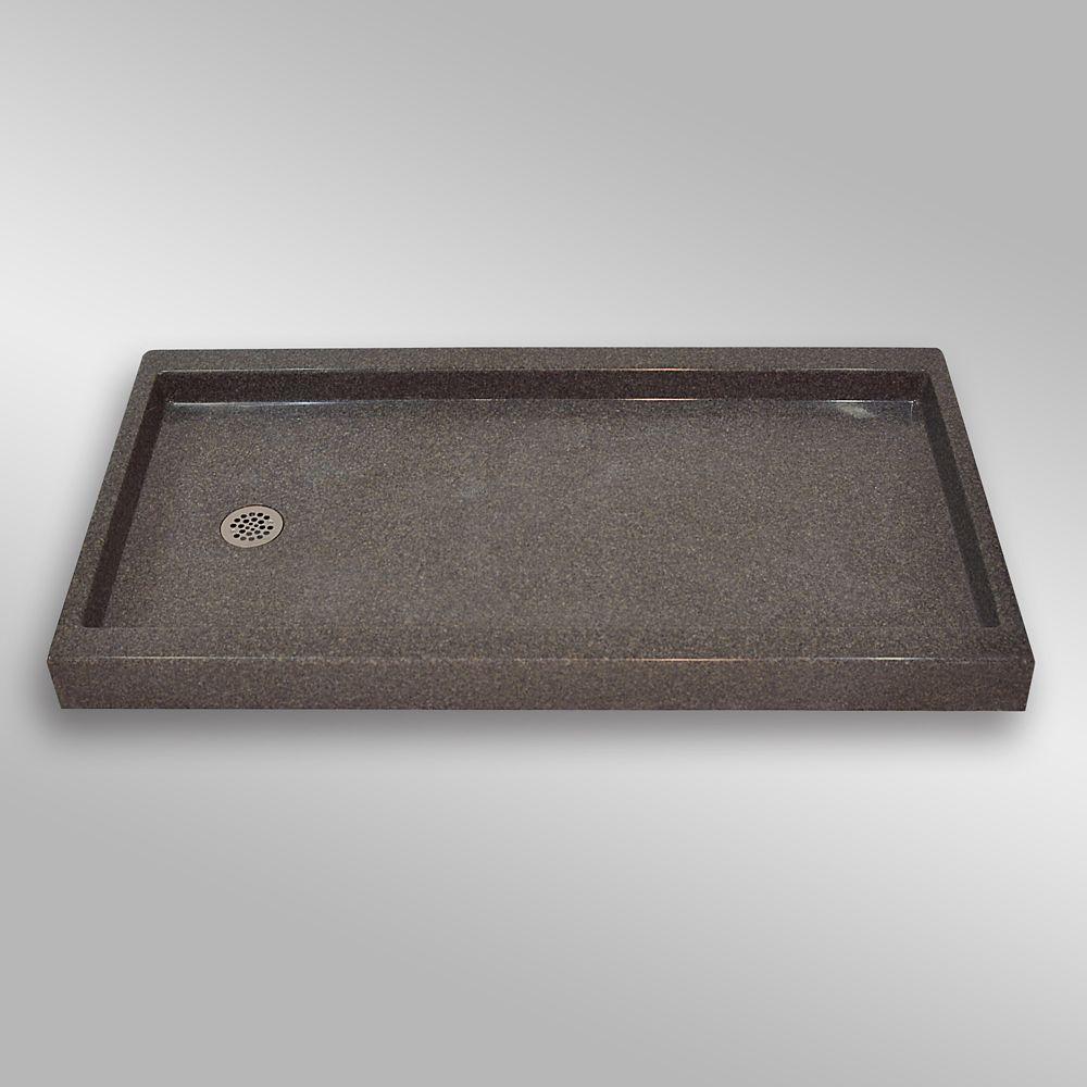 Base carré de seuil unique, PG901- Mystique- 60 x 32 pouces