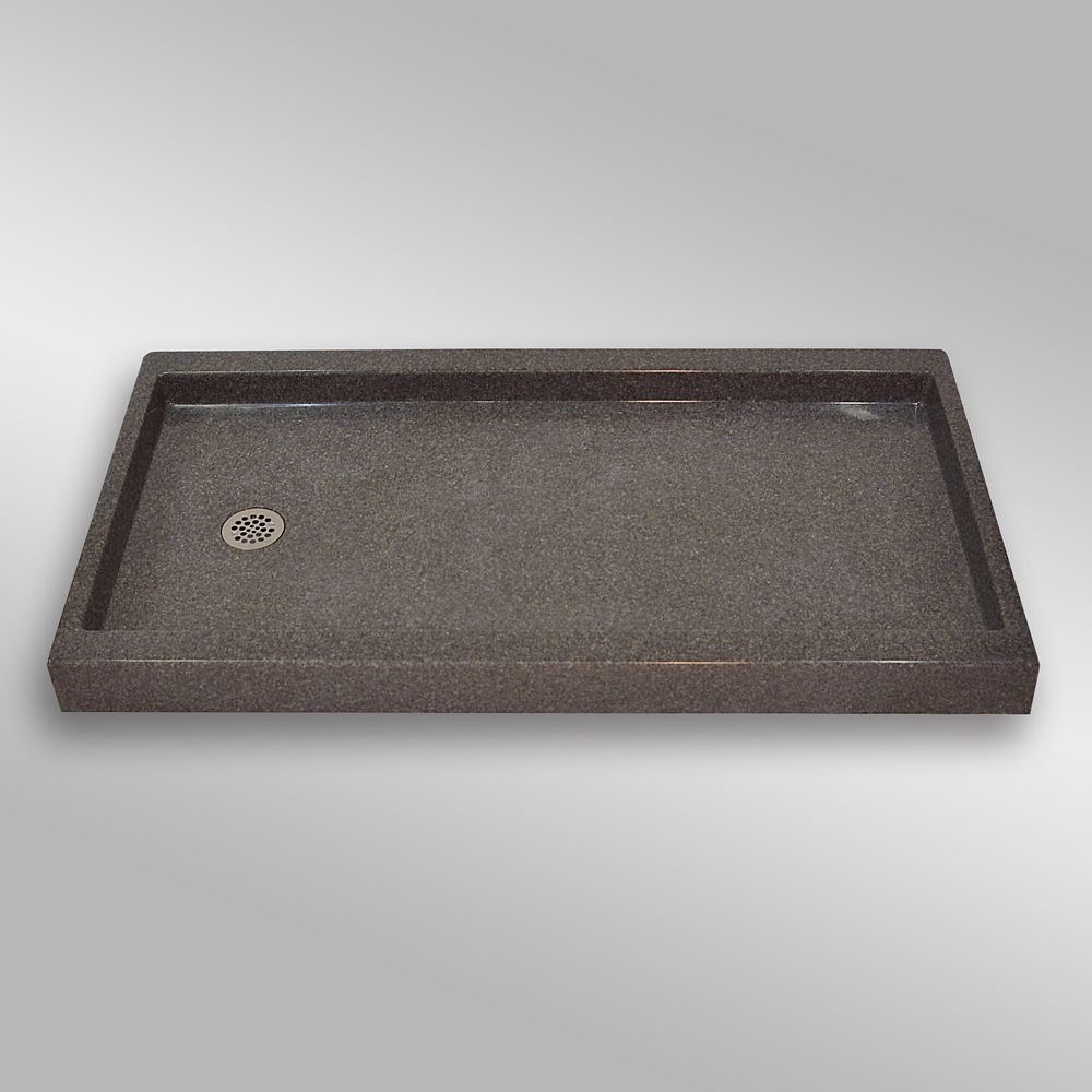 The Marble Factory Left Hand Drain, PG901 Mystique- 60 x 32 inches