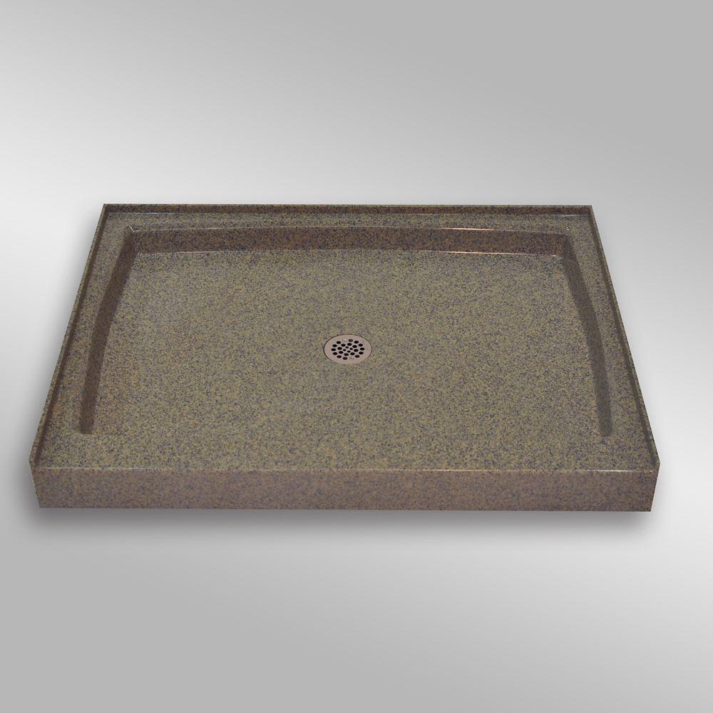 Single Threshold Shower Base, PG144 Carioca Stone- 48 x 36 inches