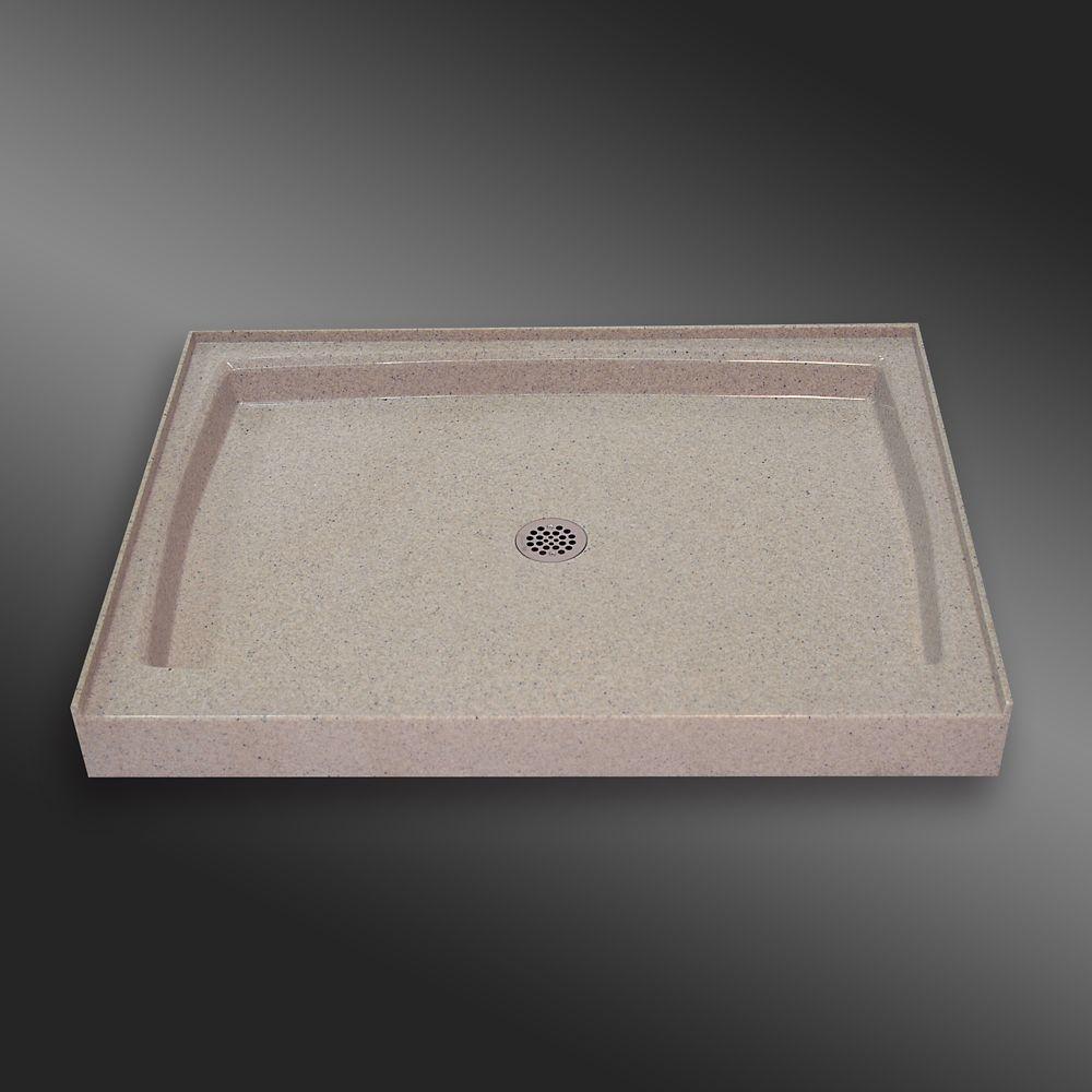Base carré de seuil unique, PG141- Crème Irlandaise- 48 x 36 pouces
