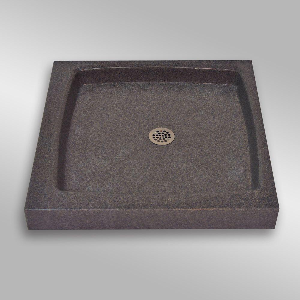 Single Threshold Shower Base, PG901 Mystique- 36 x 36 inches