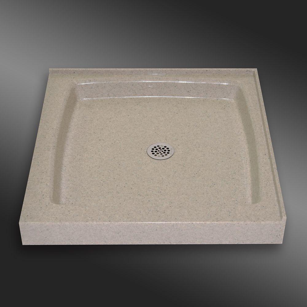 Base carré de double seuil, PG141- Crème Irlandaise- 36 x 36 pouces