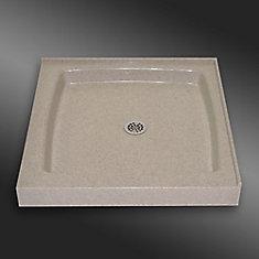 Double Threshold Shower Base, PG141 Irish Cream  36 X 36 Inches