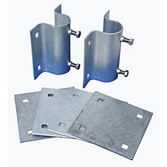 Stationary Dock Side Leg Holder Kit with Galvanized Steel Hardware