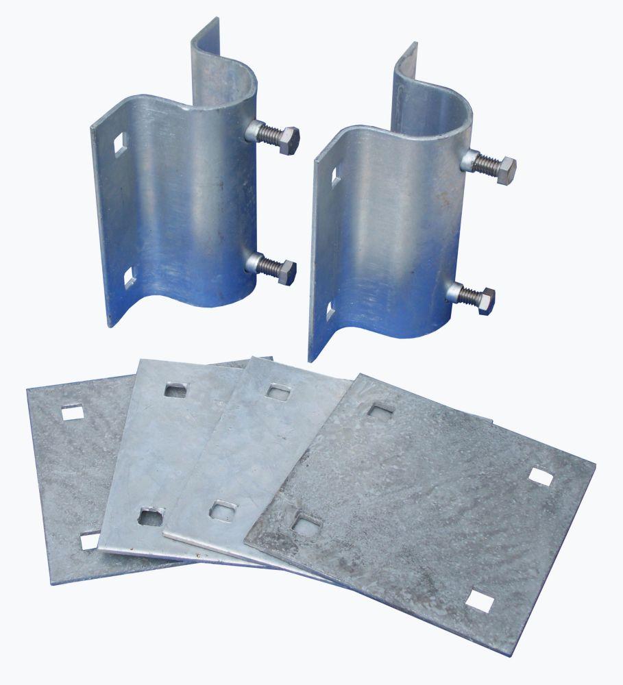 Dock Edge Stationary Dock Side Leg Holder Kit with Galvanized Steel Hardware