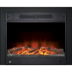 Paramount 23-inch Electric Fireplace Insert with Black Integrated 3-sided Trim Kit