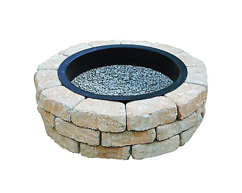 - Oldcastle Earth Blend Outdoor Stone Fire Pit Kit The Home Depot Canada
