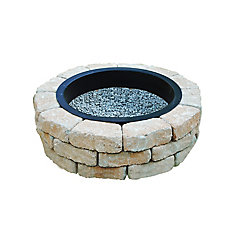 Earth Blend Outdoor Stone Fire Pit Kit