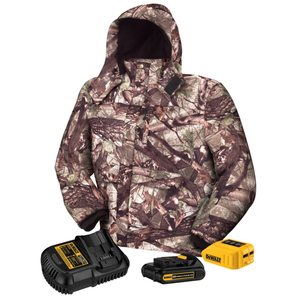 DEWALT Heated Jacket Kit - Extra Large  20-Volt/12-Volt Max Camo