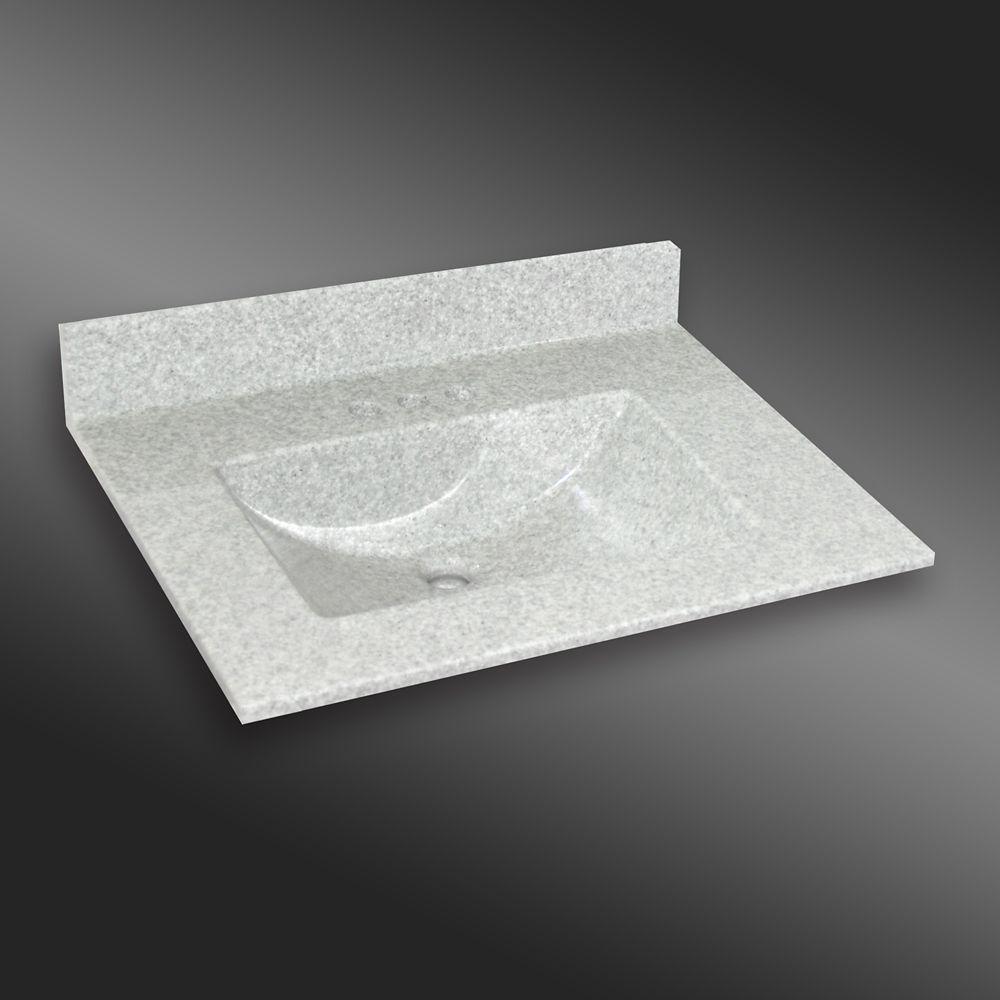 Ondulé lavabo centré, PG907- Brume de Willow- 31 x 22 pouces
