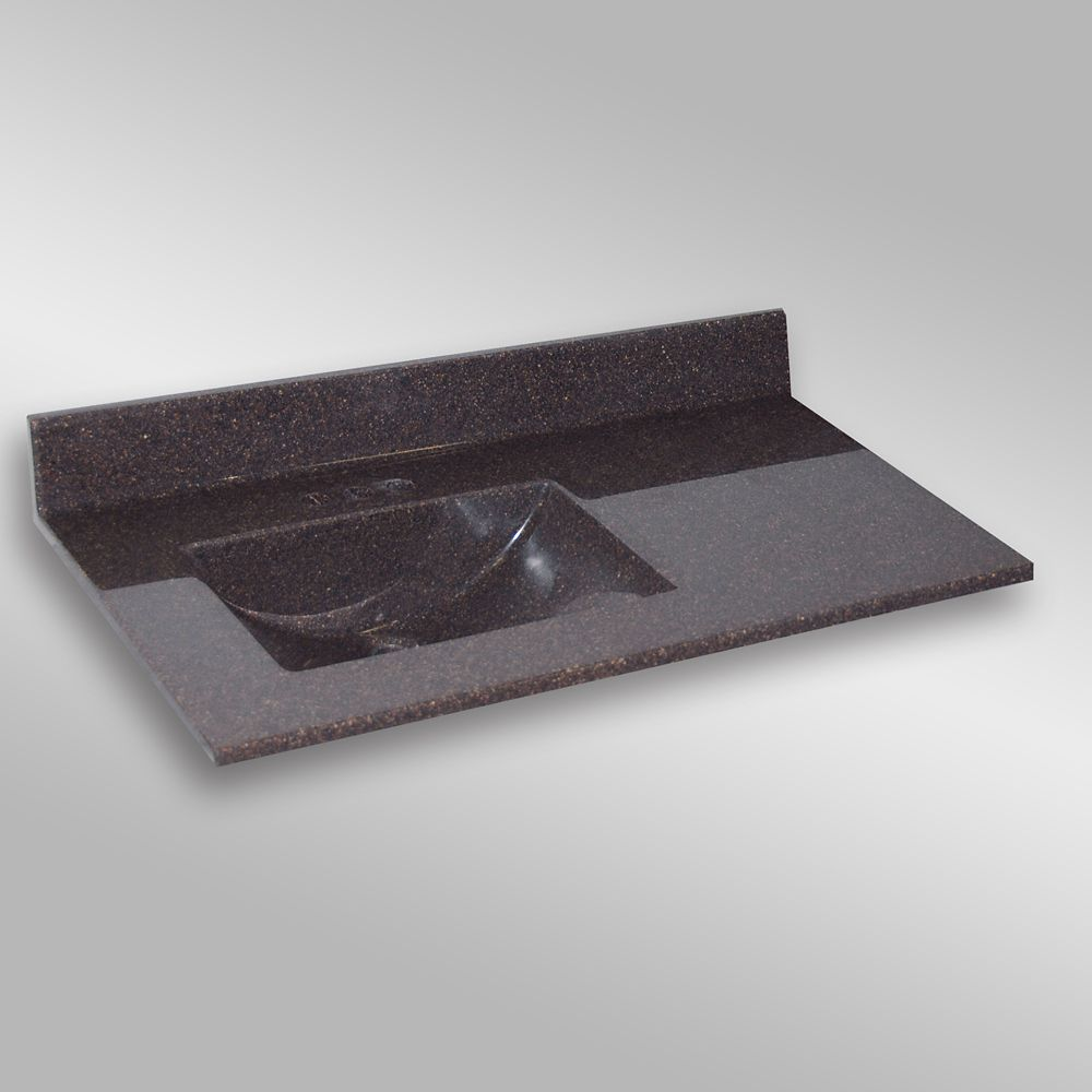 Wave Left Hand Basin, PG133 Espresso- 37 x 22 inches 37LH WAVE PG133 in Canada