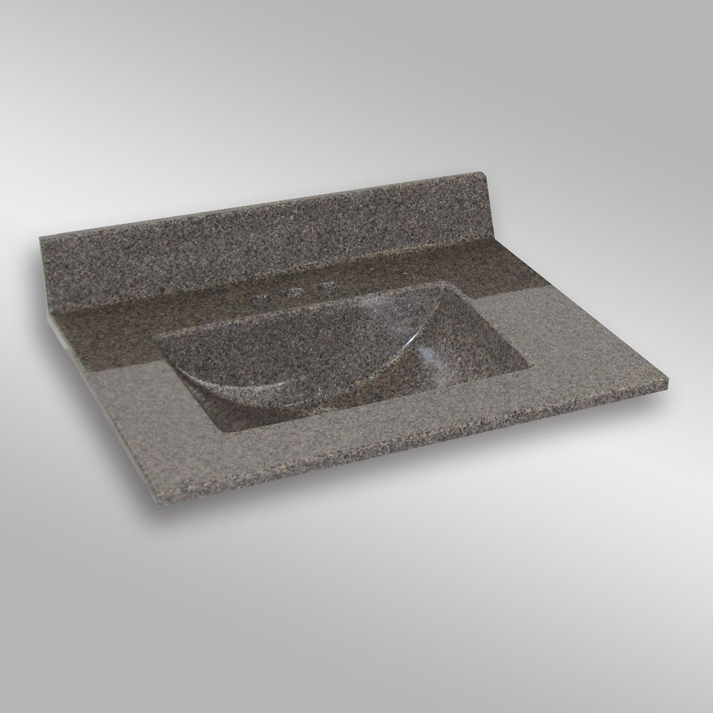 Wave Center Basin, PG144 Carioca Stone- 31 x 22 inches 31C WAVE PG144 Canada Discount