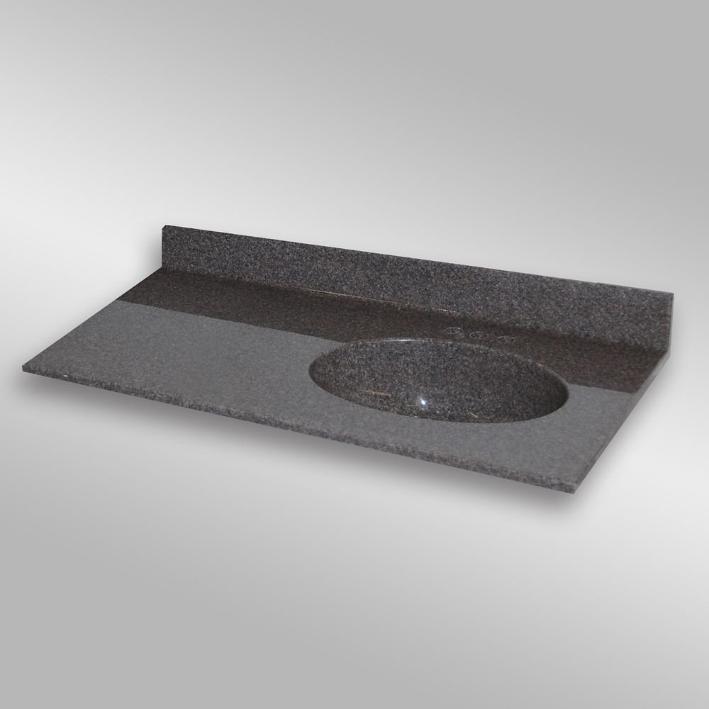 Malibu 49-Inch W x 22-Inch D Granite Right-Hand Basin Vanity Top in Mystique