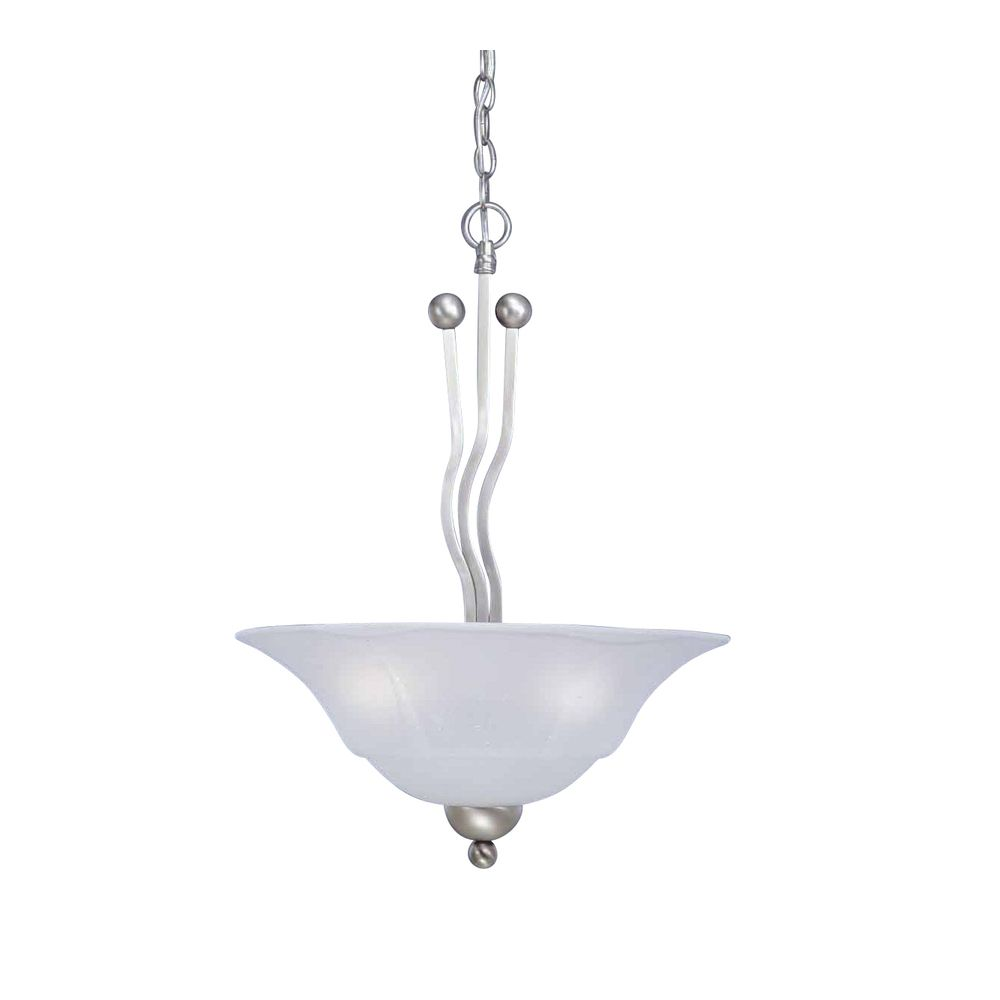 Concord 3-Light Ceiling Brushed Nickel Pendant with a Dew Drop Glass