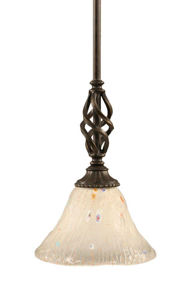 Concord 1 lumière au plafond granite foncé Pendeloque incandescence par une Frosted Crystal