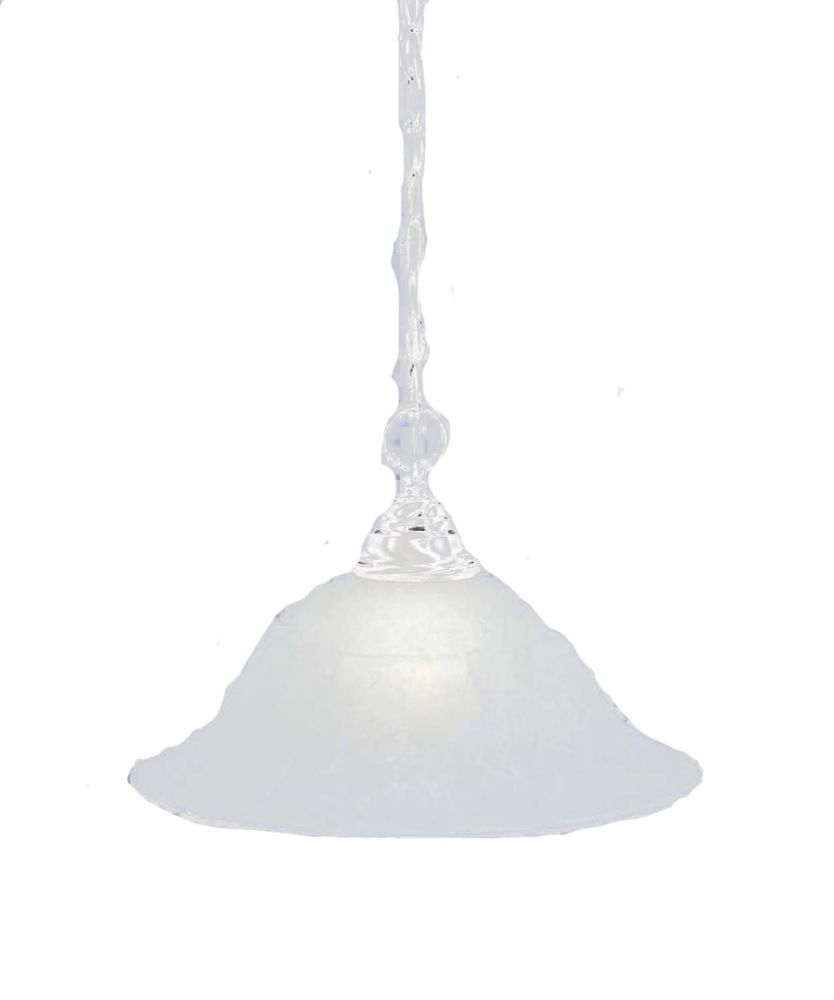 Concord 1 Light Ceiling Brushed Nickel Incandescent Pendant with a White Marble Glass