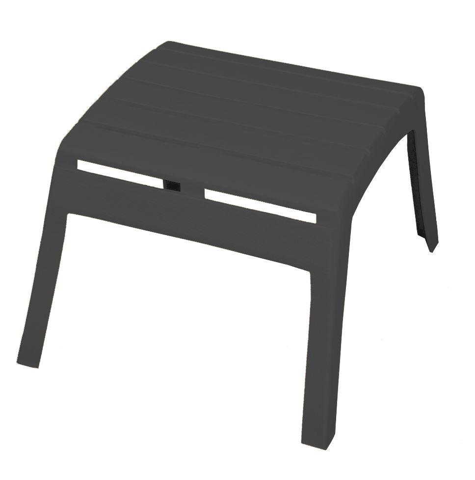 Miraculous Contour Patio Muskoka Patio Ottoman In Grey Inzonedesignstudio Interior Chair Design Inzonedesignstudiocom