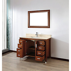 Art Bathe Jackie 48 Classic Cherry / Beige Ensemble with Mirror and Faucet