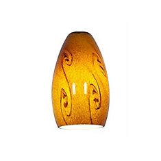 Vista 3.75 Inch Amber SkyGlass Shade