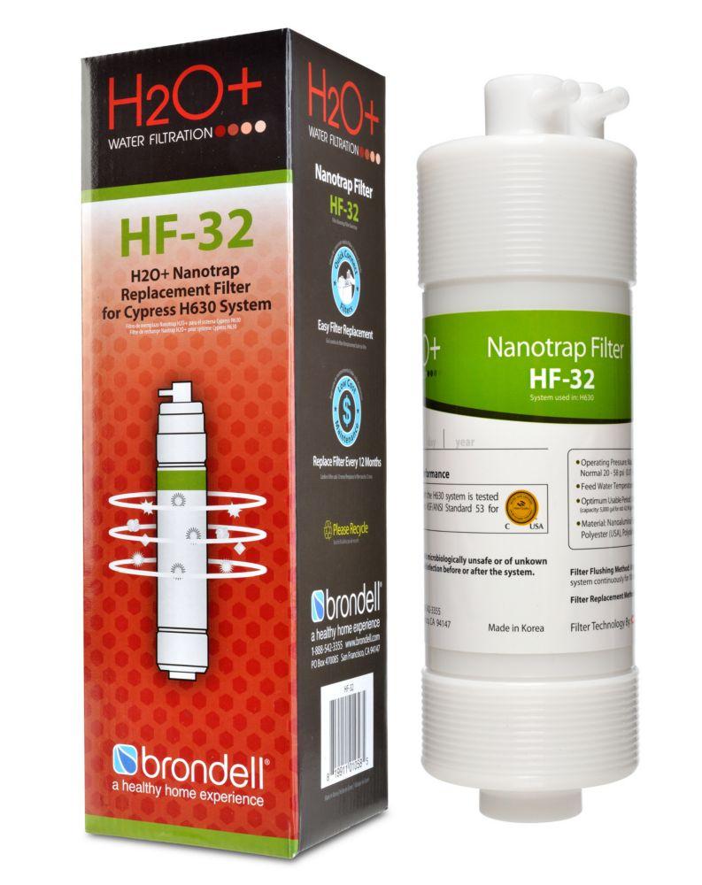 H2O + Cypress Nanotrap Filtrer