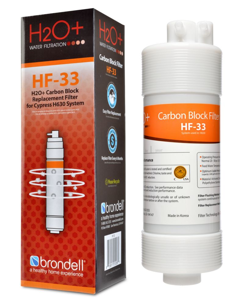 Brondell H2O+ Cypress Carbon Block Filter