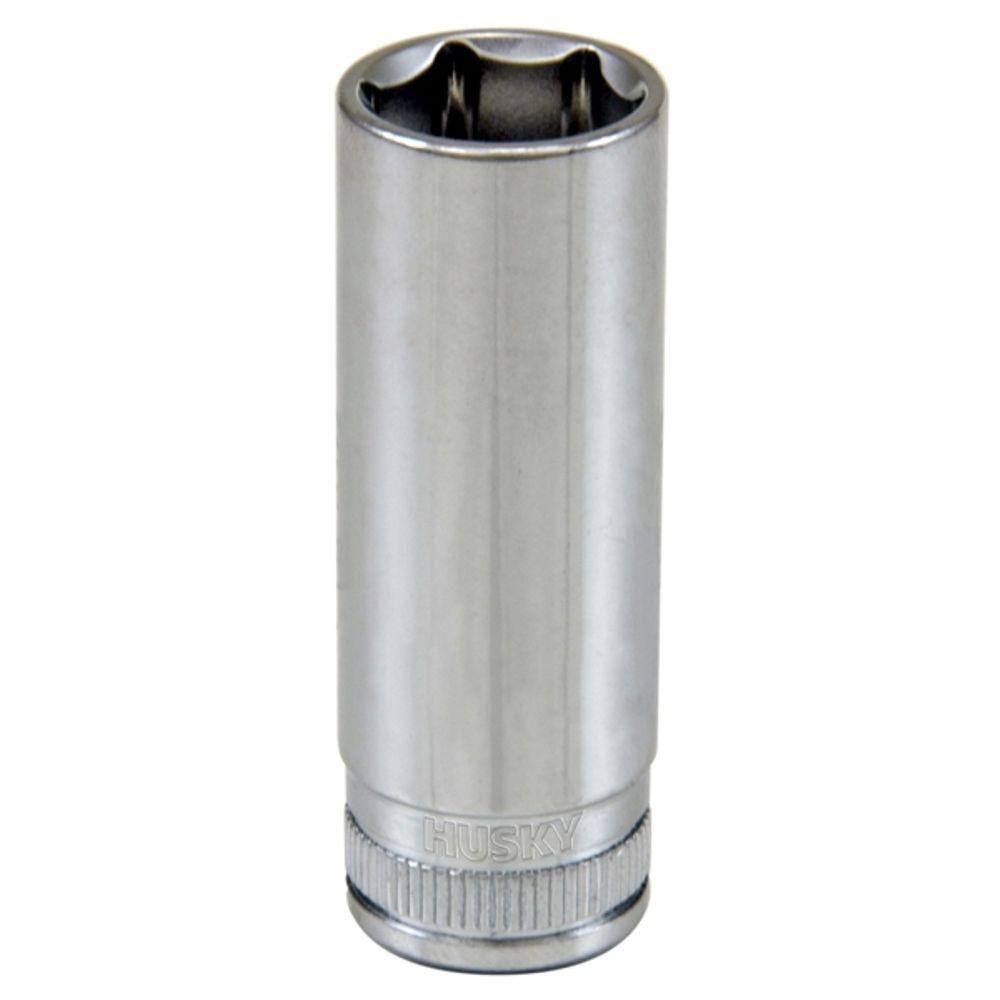 HUSKY 1/4 Inch Drive 14mm 6-Point Metric Deep Socket