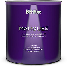 Marquee   939 mL Ultra Pure White Eggshell Enamel Interior Paint with Primer
