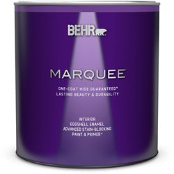 Behr Marquee Marquee 939 mL Ultra Pure White Eggshell Enamel Interior Paint with Primer