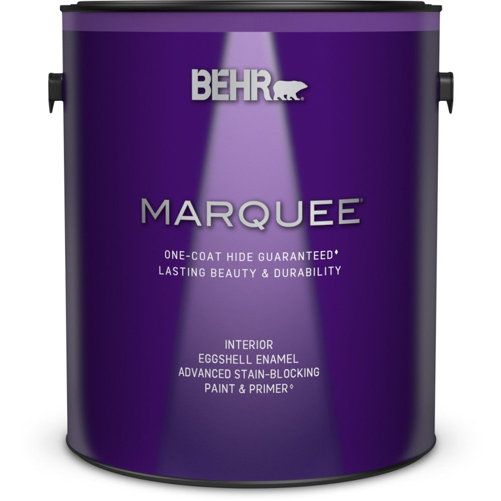 Marquee 3.7 L Ultra Pure White Eggshell Enamel Interior Paint with Primer