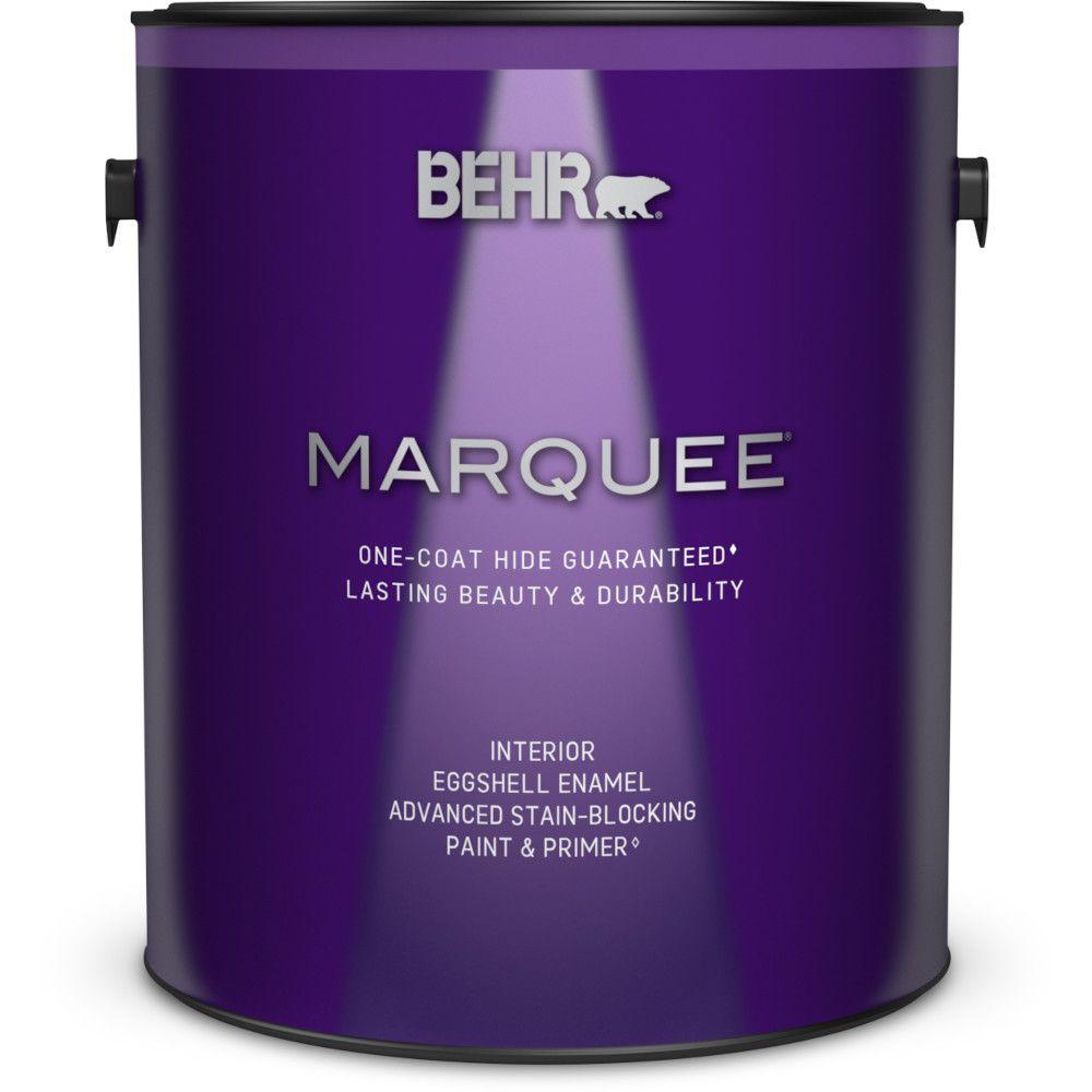 Peinture et apprêt en un MarqueeMD dintérieur avec fini émail coquille d�uf et base foncée (3,7L...