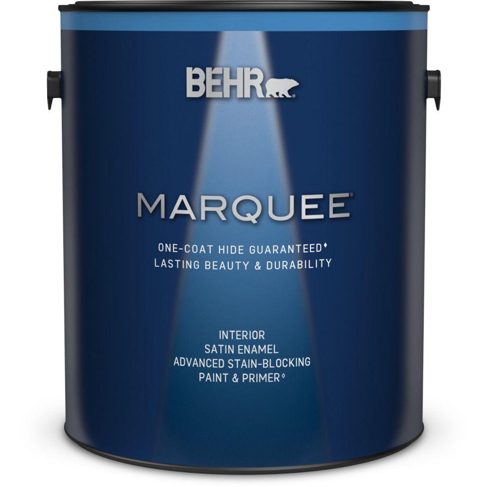 Peinture et apprêt en un MarqueeMD dintérieur avec fini émail satiné et base foncée (3,7L)