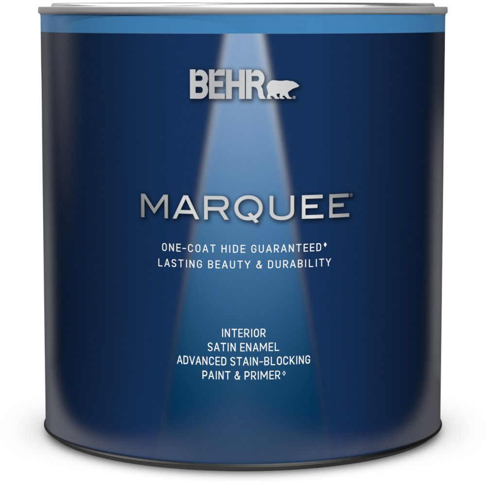 Marquee 939 mL Ultra Pure White Satin Enamel Interior Paint with Primer