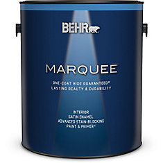 Marquee   3.7 L Ultra Pure White Satin Enamel Interior Paint with Primer