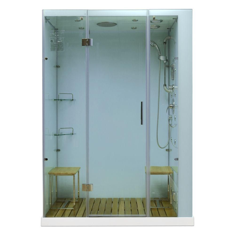 Modern, Stylish Steam and Shower Enclosure with Multi Body Message Water Jets, Radio and Aromathe...