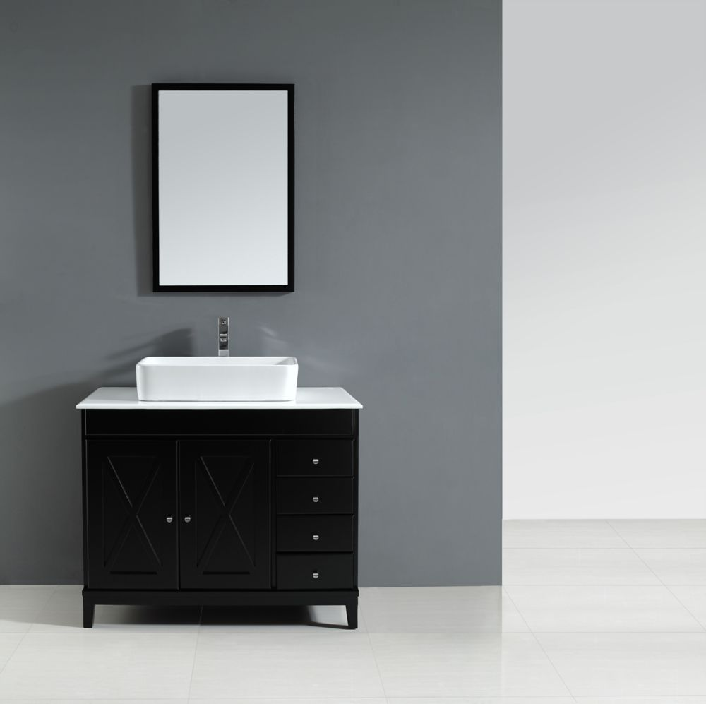 solid wood bowl vanity in espresso finish the home depot canada