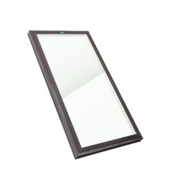 Columbia Skylights 2ft 8in x 4ft Fixed Curb Mount LoE3 Double Glazed Neat Glass Skylight with Brown Frame
